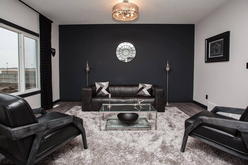 black living room furniture ideas