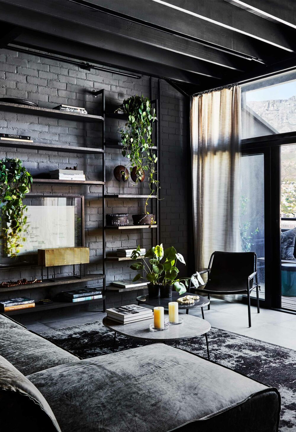 black living room ideas