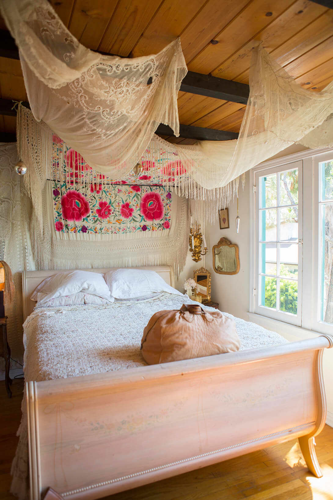 bohemian diy bed canopy