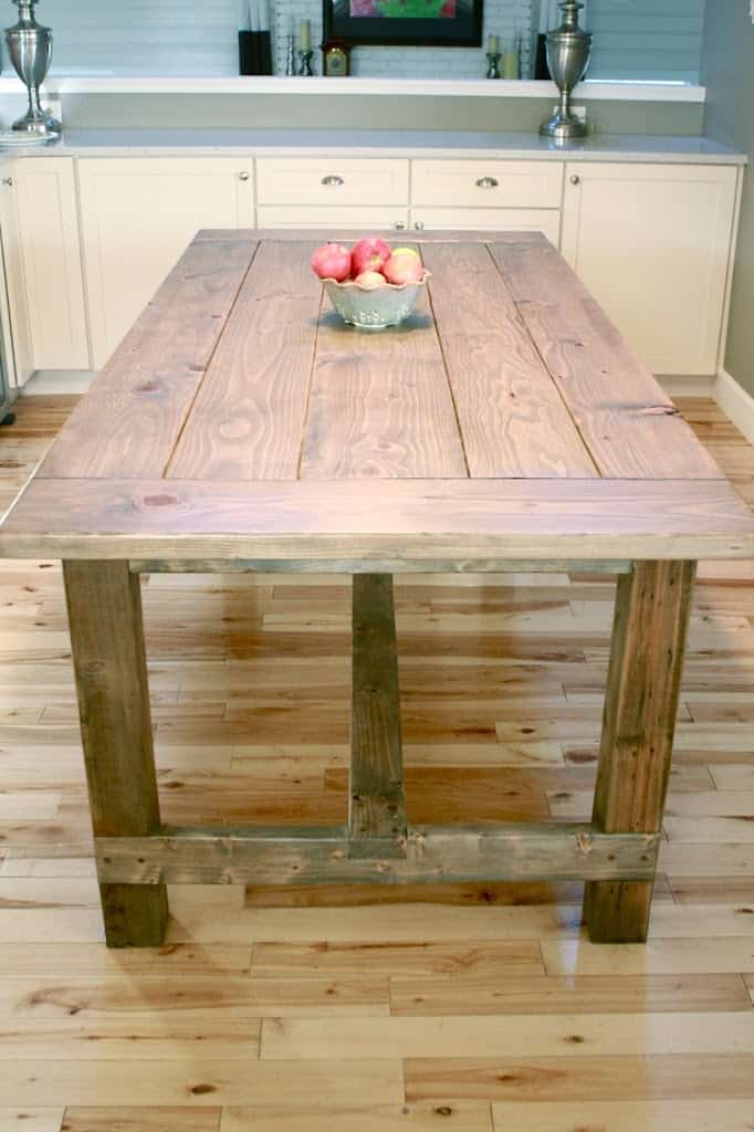 diy farmhouse console table plans