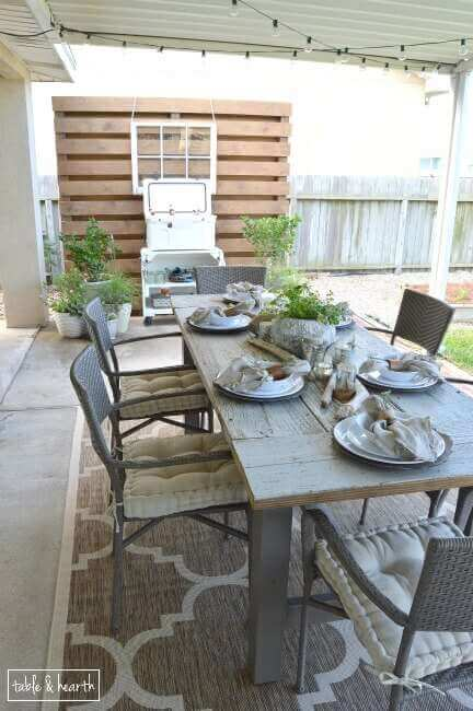 diy farmhouse table outdoor