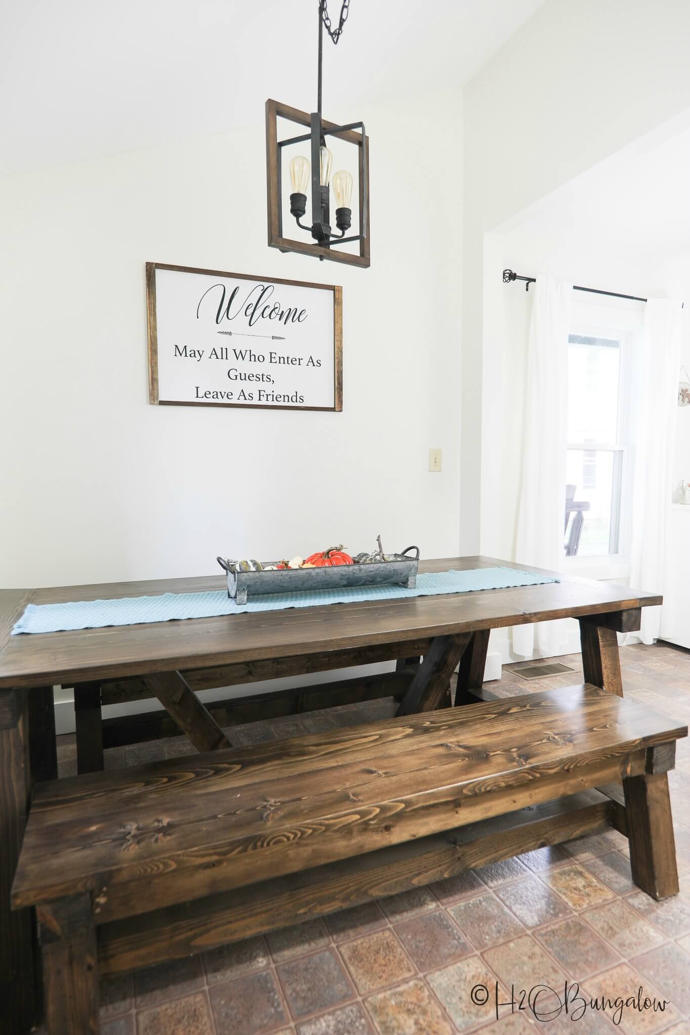 diy farmhouse table with leaves