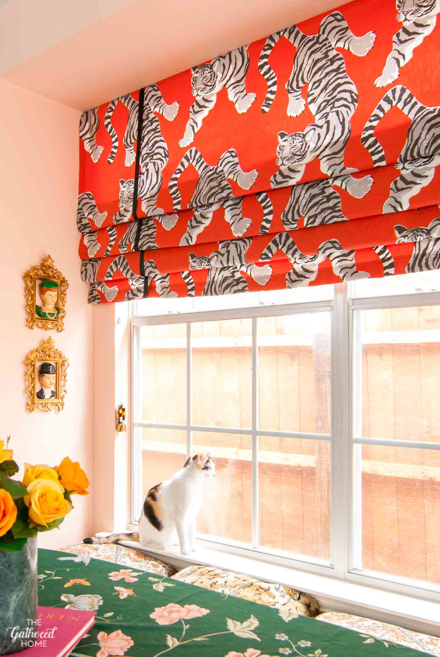 diy faux roman shades