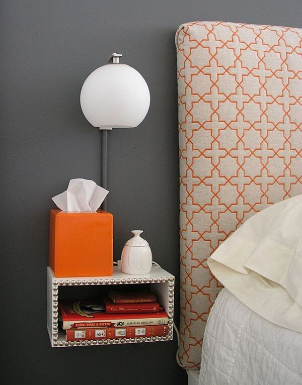 diy floating nightstand with light