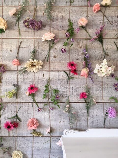 diy flower wall for backgroud