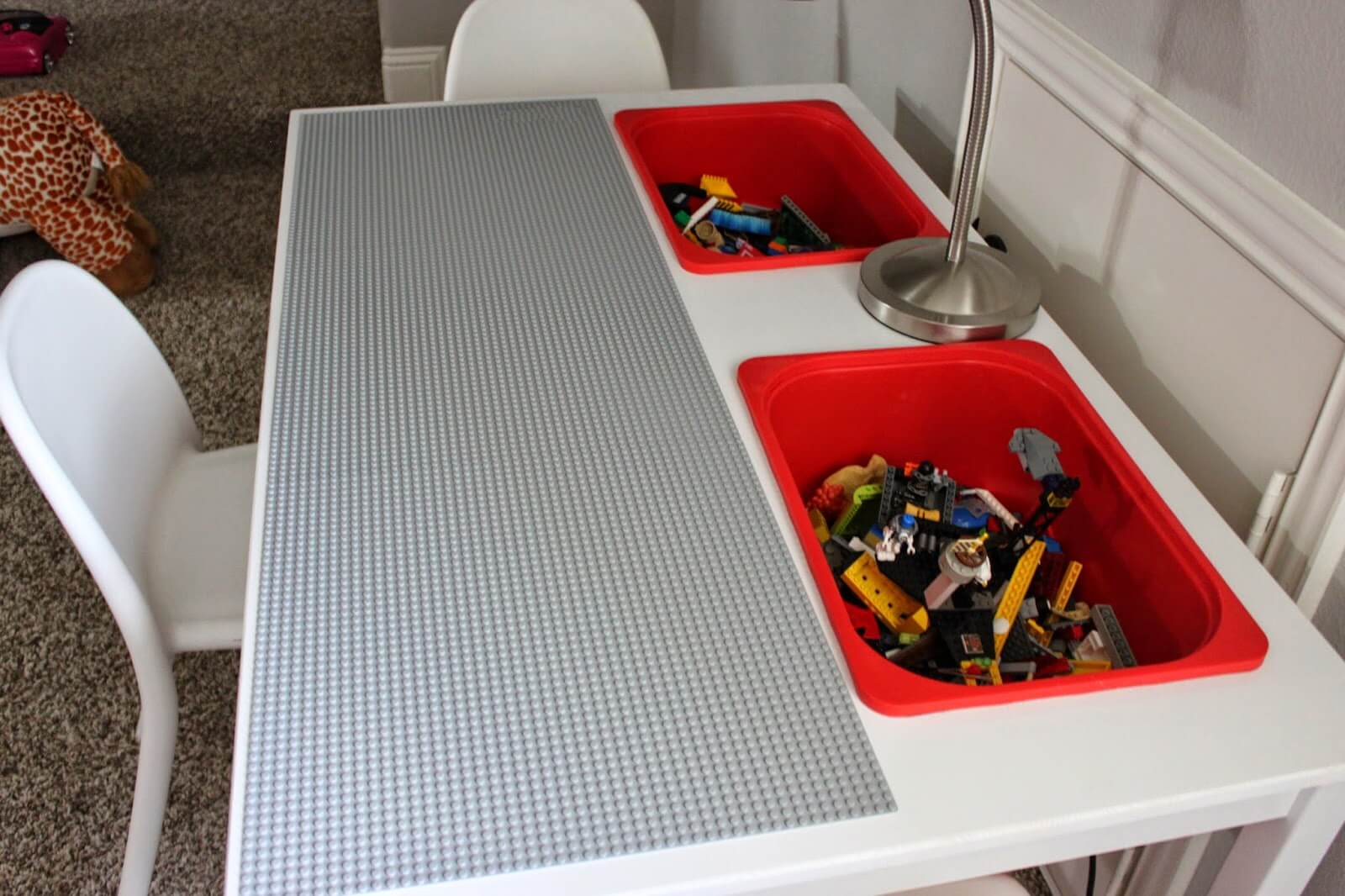 diy lego table for children