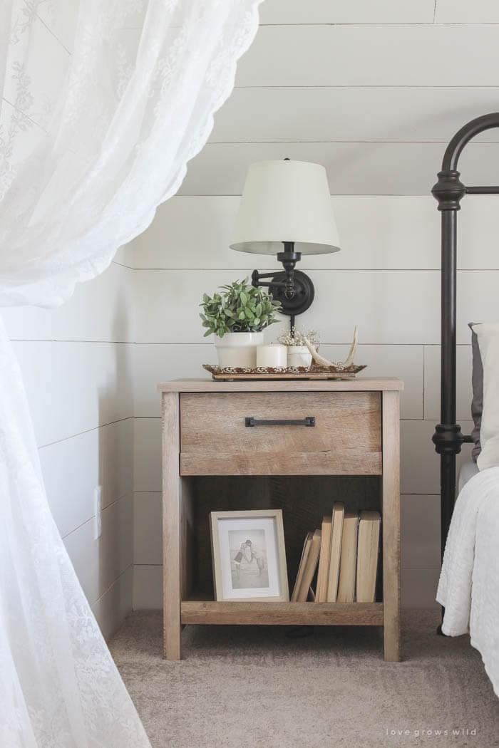 diy nightstand bookshelf