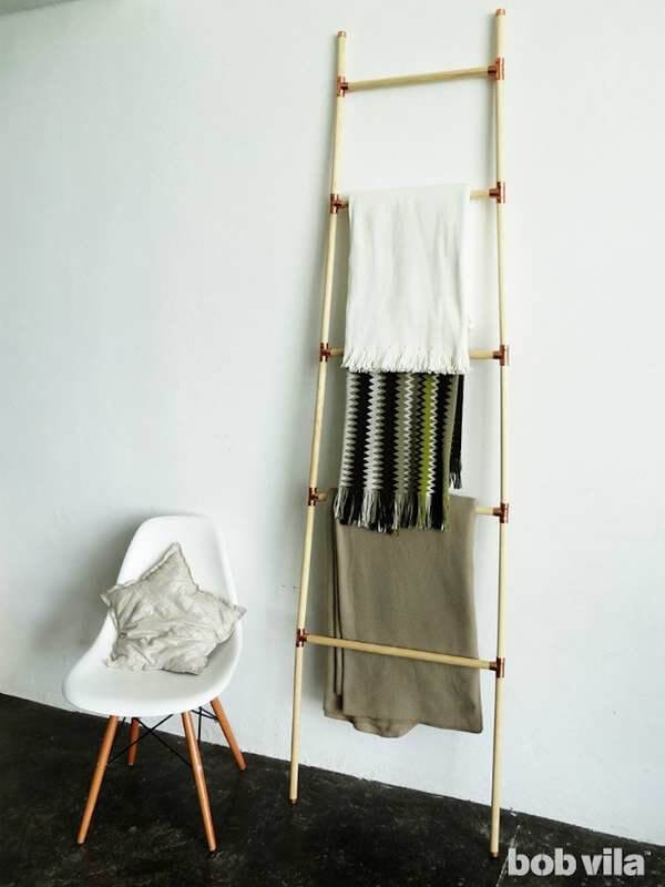 how to make a blanket ladder diy