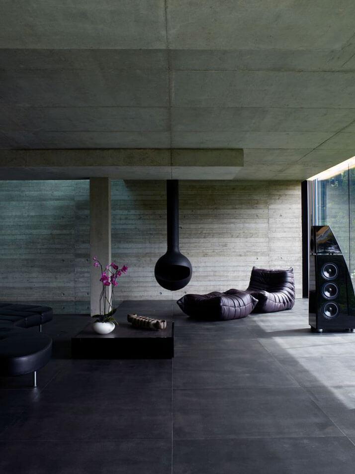 living room ideas for black sofa