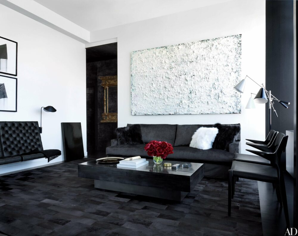 living room ideas with black couches