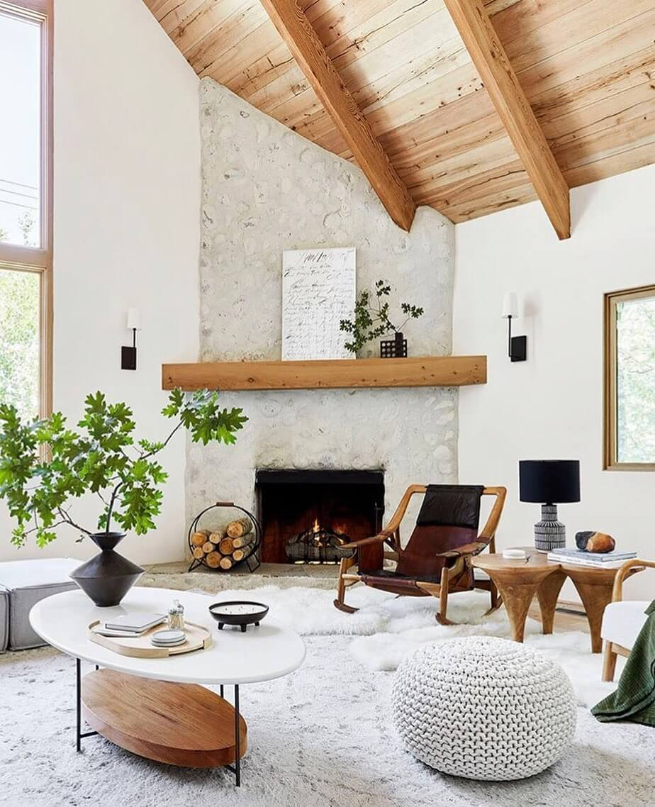 rustic boho living room ideas