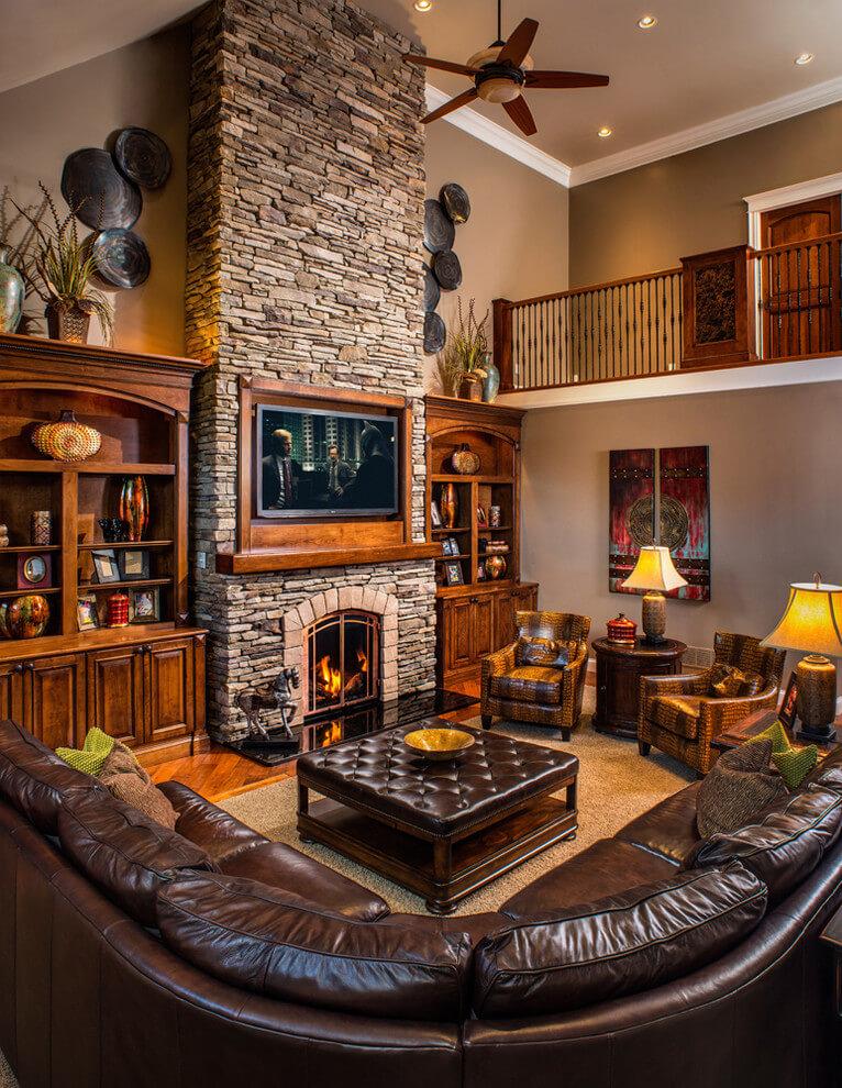 rustic living rooms designs
