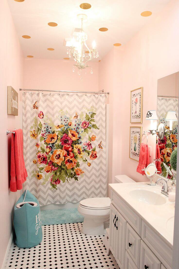 teenage girl bathroom paint ideas