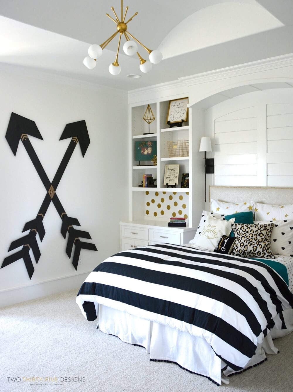 teenage girl bedroom ideas black and white